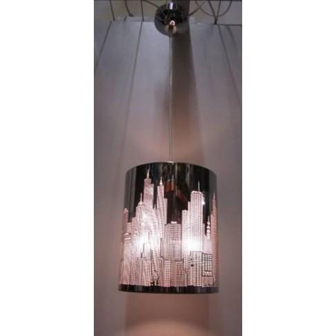 Lámpara Colgante City Cromo 1 Luz