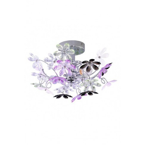 Lámpara Plafón de Techo Flower 2 Luces Multicolor