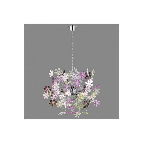 Lámpara Colgante Flower 4 Luces Multicolor