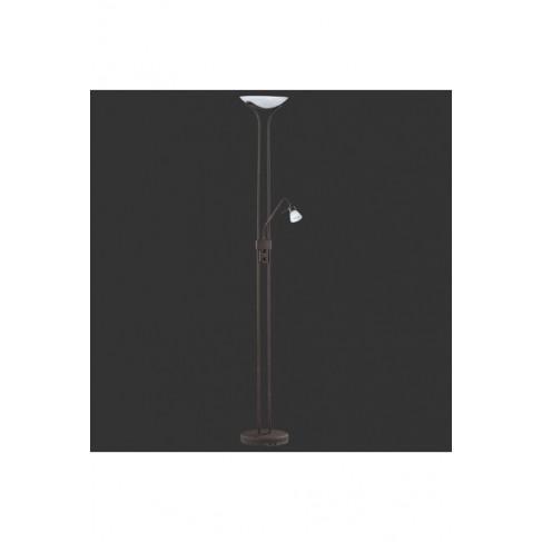 Lámpara de Pie Corglas Marrón Óxido 2 Luces