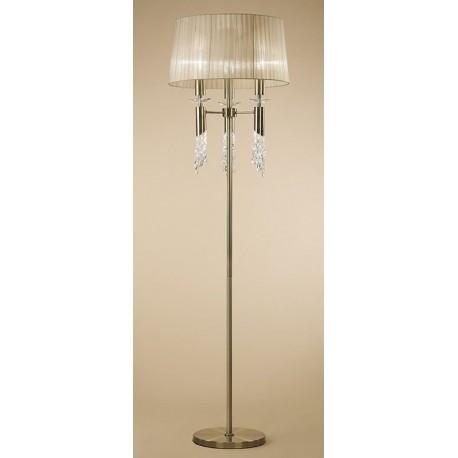 Lámpara de Pie Tiffany Cuero 3+3 Luces