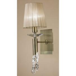 Lámpara Aplique Tiffany Cuero 1+1 Luces
