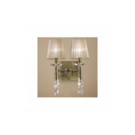 Lámpara Aplique Tiffany Cuero 2+2 Luces