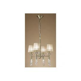 Lámpara Tiffany Cuero 4+4 Luces