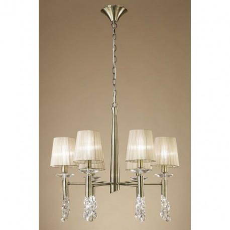 Lámpara Tiffany Cuero 6+6 Luces