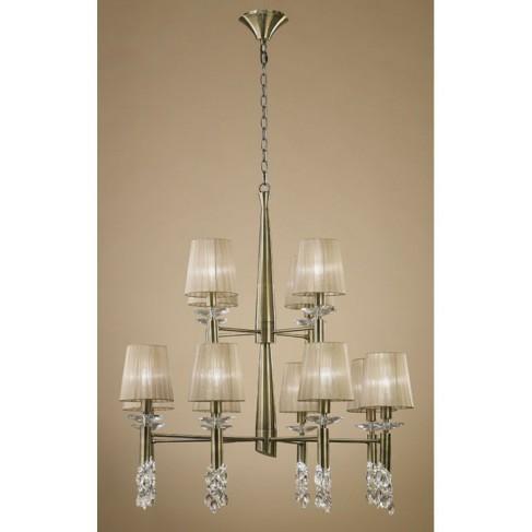 Lámpara Tiffany Cuero 12+12 Luces
