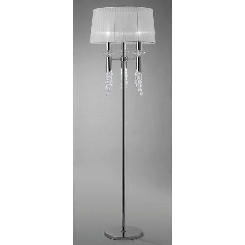 Lámpara de Pie Tiffany Cromo 3+3 Luces
