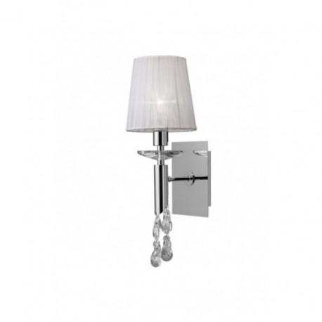 Lámpara Aplique de Pared Tiffany Cromo 1+1 Luces