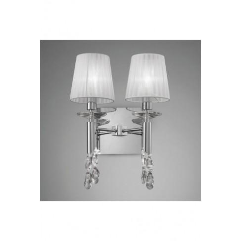 Lámpara Aplique de Pared Tiffany Cromo 2+2 Luces