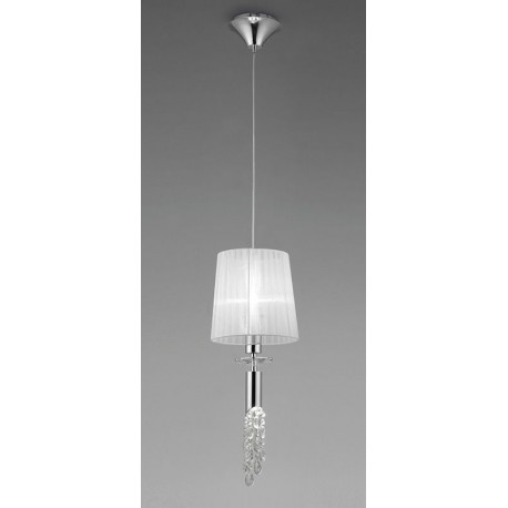 Lámpara Colgante Tiffany Cromo 1+1 Luces