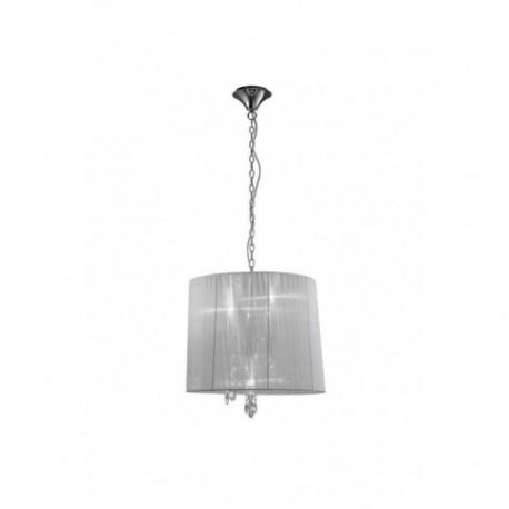 Lámpara Colgante Tiffany Cromo