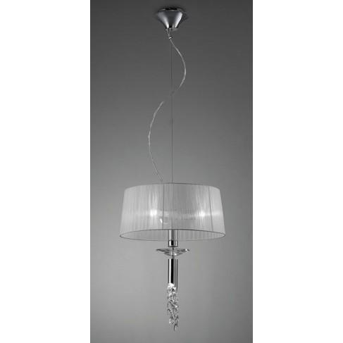 Lámpara Colgante Tiffany Cromo 3+1 Luces