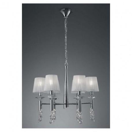 Lámpara Tiffany Cromo 6+6 Luces
