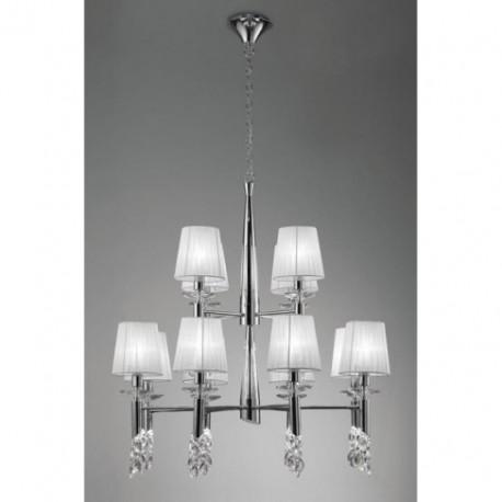 Lámpara Tiffany Cromo 12+12 Luces