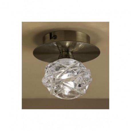 Lámpara Plafón de Techo Maremagnum Cuero 1 Luz