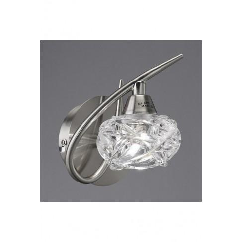 Lámpara Aplique de Pared Maremagnun Níquel Satinado 1 Luz