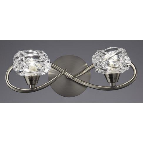 Lámpara Aplique de Pared Maremagnun Níquel Satinado 2 Luces