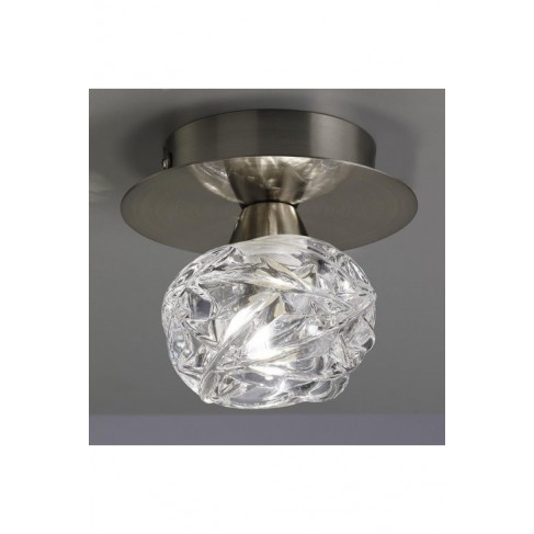 Lámpara Plafón de Techo Maremagnun Níquel Satinado 1 Luz