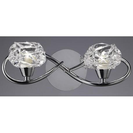 Lámpara Aplique de Pared Maremagnum Cromo 2 Luces