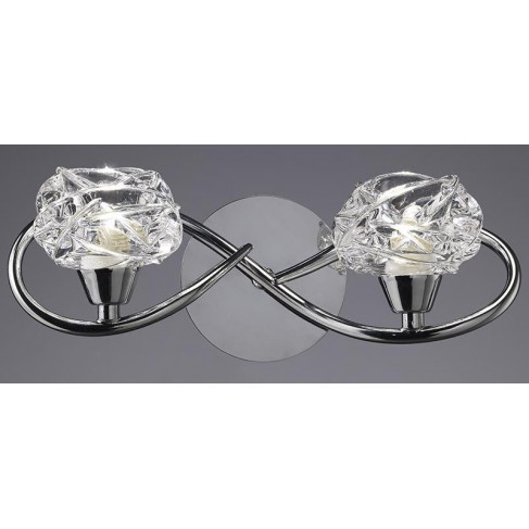 Lámpara Aplique de Pared Maremagnun Cromo 2 Luces