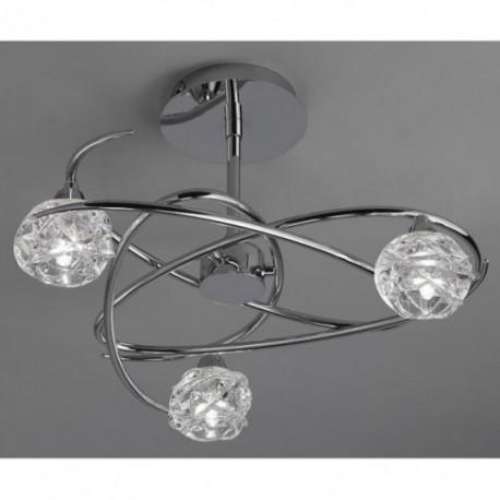 Lámpara Plafón de Techo Maremagnum Cromo 3 Luces