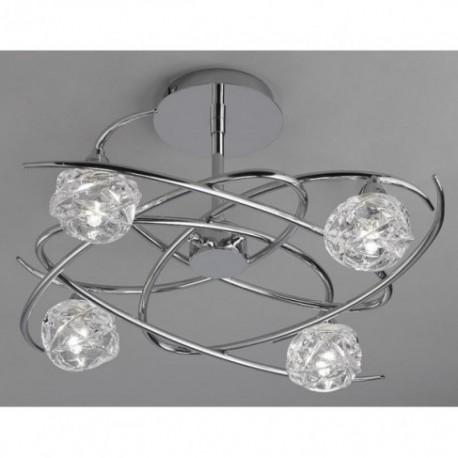 Lámpara Plafón de Techo Maremagnum Cromo 4 Luces