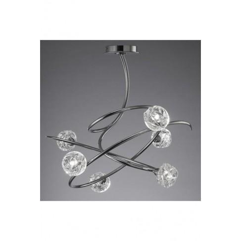 Lámpara Maremagnun Cromo 6 Luces Fantasía
