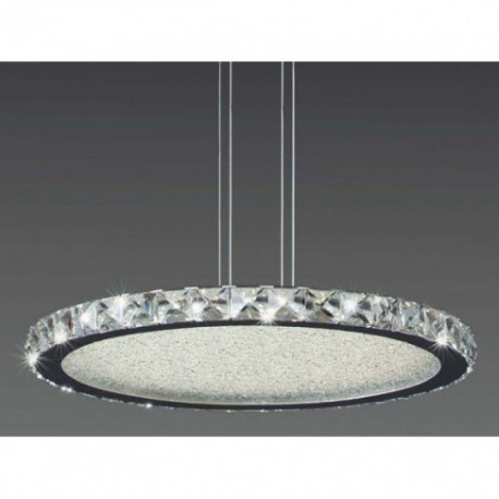 Lámpara Colgante Redondo Crystal Led 55cm
