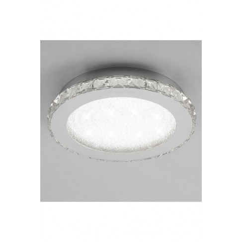 Lámpara Plafón de Techo Redondo Crystal Led 55cm