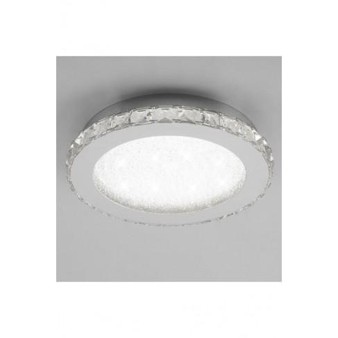Lámpara Plafón de Techo Redondo Crystal Led 42cm