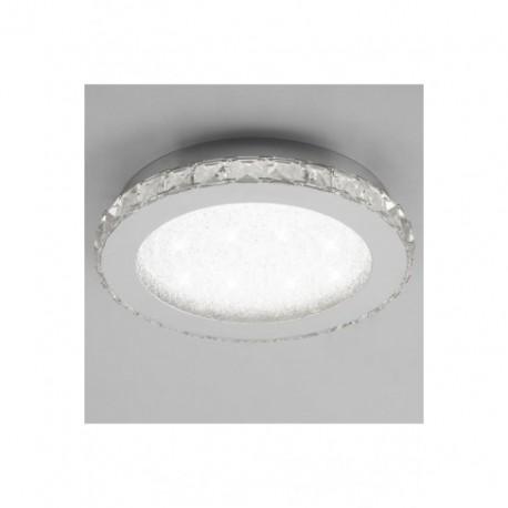 Lámpara Plafón de Techo Redondo Crystal Led 32cm