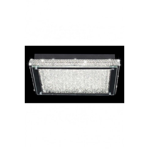 Lámpara Plafón de Techo Rectangular Crystal Led 55cm