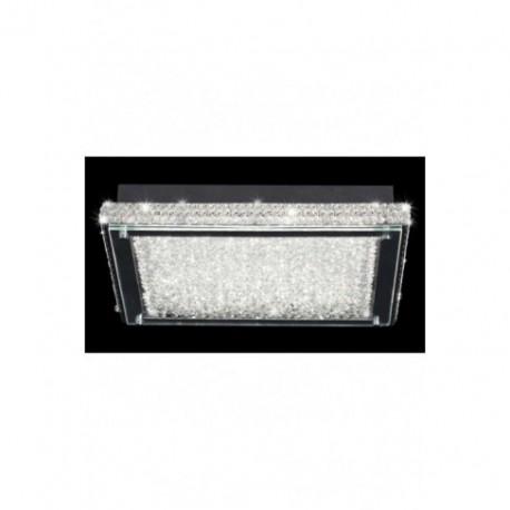 Lámpara Plafón de Techo Rectangular Crystal Led 39cm