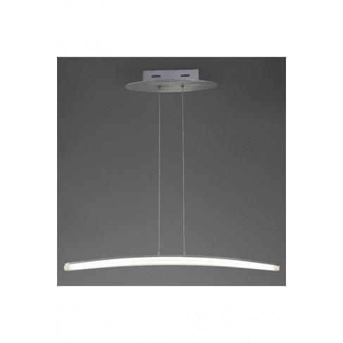Lámpara Colgante Led Hemisferic Aluminio 20W