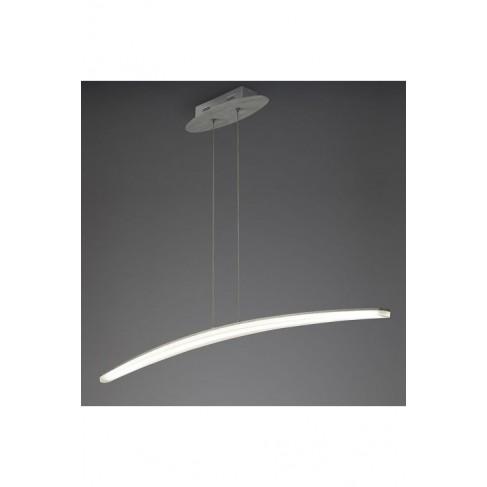 Lámpara Colgante Led Hemisferic Aluminio 28W