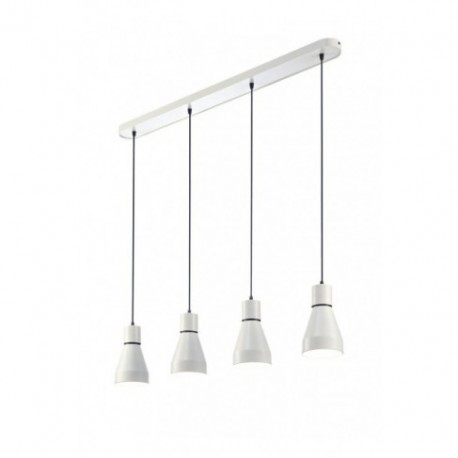 Lámpara Colgante Kos Blanco 4 Luces