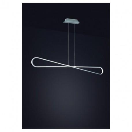 Lámpara Colgante Led BUCLE Cromo Plata