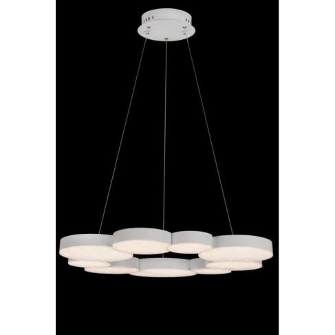 Lámpara Colgante LED Dimmable grande LUNAS blanco mate
