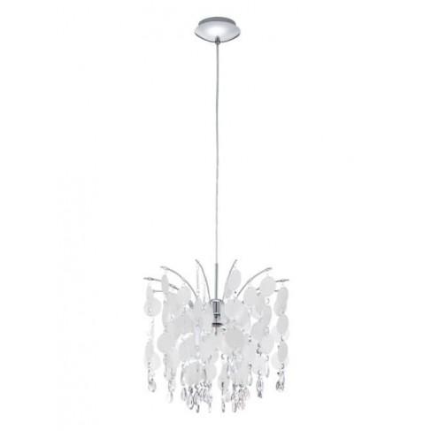 Lámpara Colgante Fedra Cromo nácar 38 cms
