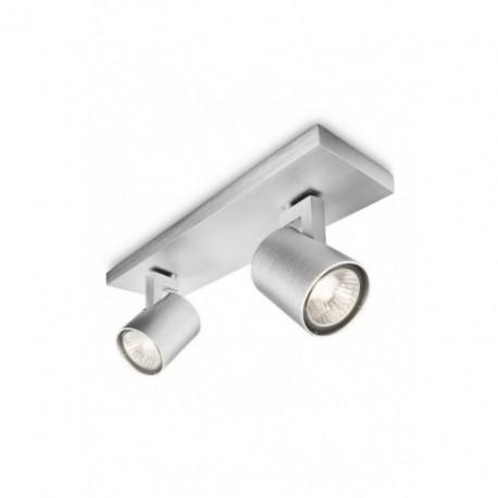 Regleta Focos Runner Aluminio 2 Luces