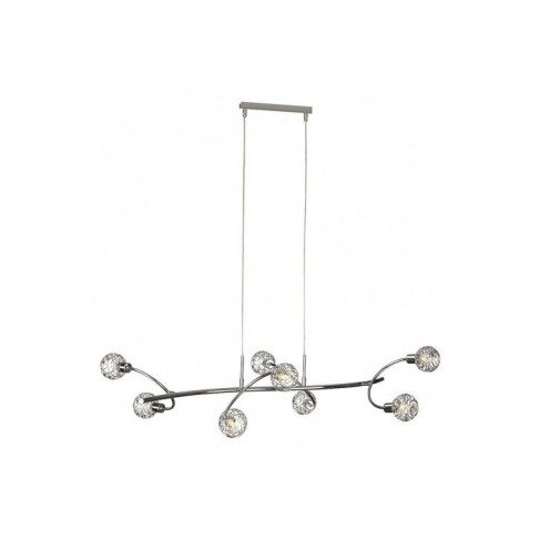 Lámpara Colgante Salvador Cromo 8 Luces