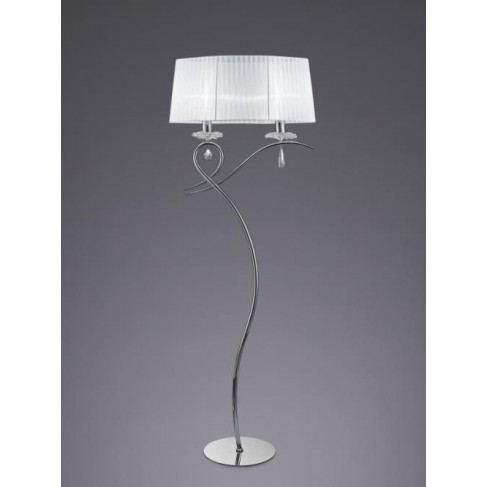 Lámpara de Pie Louise 2 Luces Cromo
