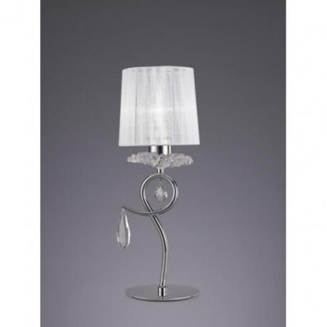 Lámpara de Sobremesa Louise 1 Luz Cromo