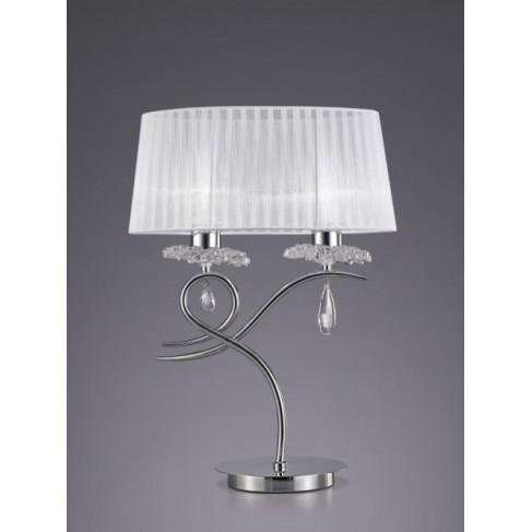 Lámpara de Sobremesa Louise 2 Luces Cromo