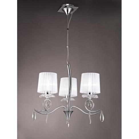 Lámpara Louise 3 Luces Cromo