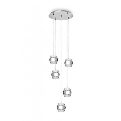 Lámpara Colgante Khalifa Up/Down Cromo 10 Luces