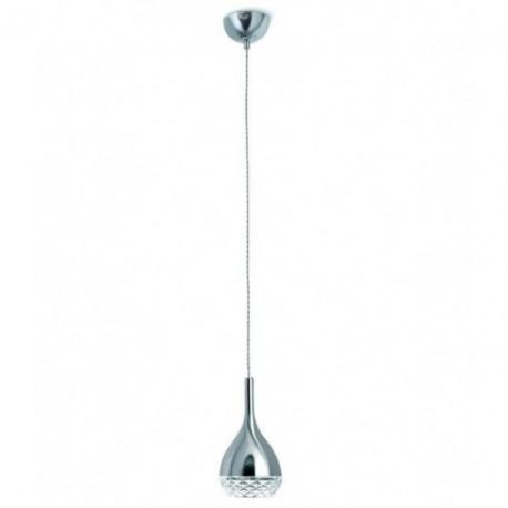 Lámpara Colgante Khalifa Cromo 1 Luz
