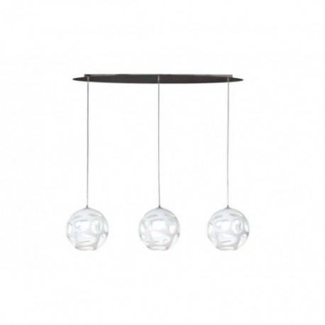 Lámpara Colgante Orgánica Lineal Blanca 3 Luces