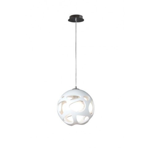 Lámpara Colgante Orgánica Blanco 1 Luz