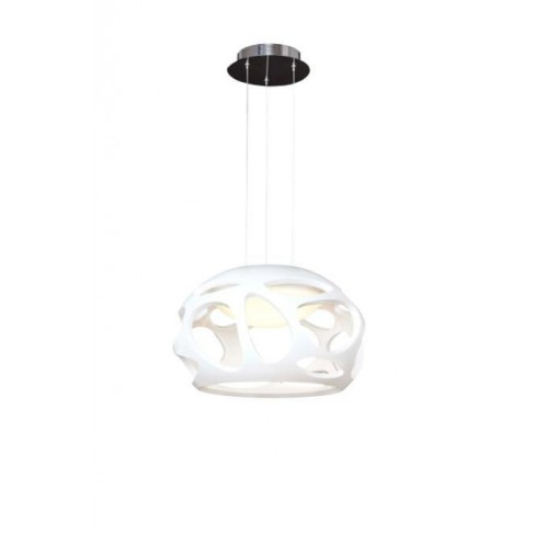 Lámpara Colgante Orgánica Blanco 3 Luces